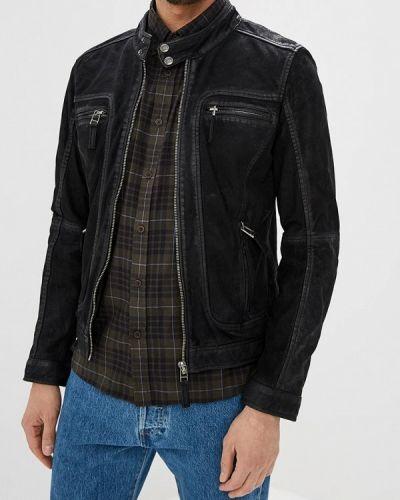 Кожаная куртка - черная Oakwood