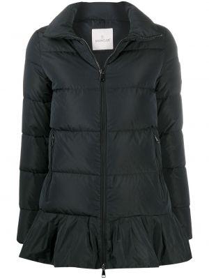 С рукавами черная куртка на молнии Moncler