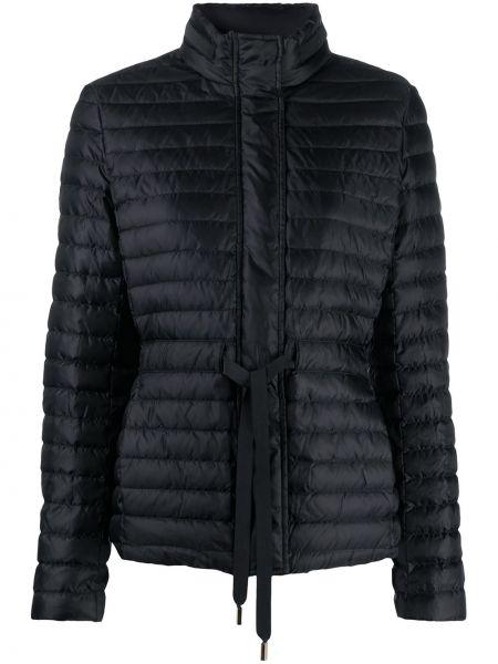 С кулиской черная куртка с перьями Michael Michael Kors