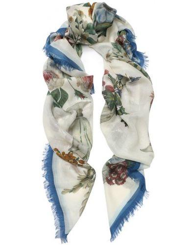 Шарф с цветочным принтом кашемировый Dolce & Gabbana