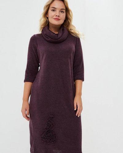 Платье вязаное фиолетовый Darissa Fashion