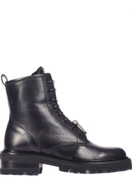 Черные ботинки на каблуке John Richmond