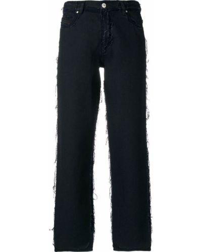 джинсы с необработанными швами Diesel