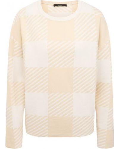 Шерстяной пуловер - белый Windsor