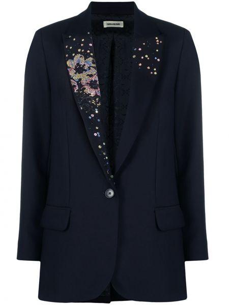 Синий пиджак с пайетками на пуговицах Zadig&voltaire