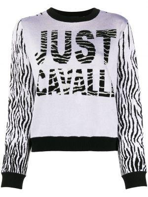 Длинный свитер в рубчик Just Cavalli