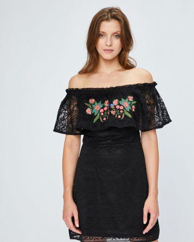 Платье мини с вышивкой с оборками Answear