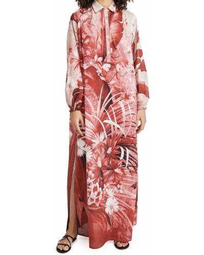 Платье макси с длинными рукавами в цветочный принт стрейч F.r.s. For Restless Sleepers