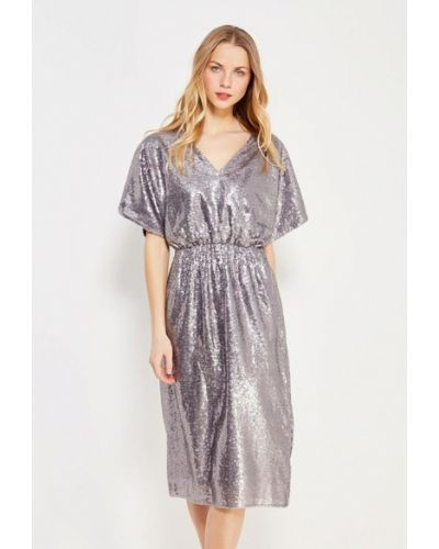 Серебряное вечернее платье Nastasia Sabio