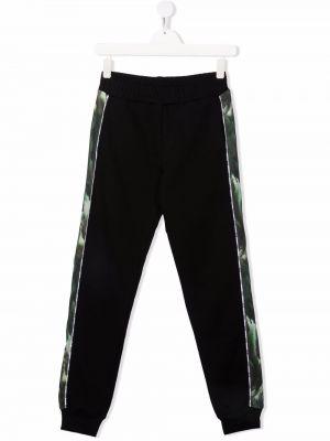 Czarne spodnie bawełniane Msgm Kids