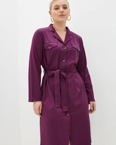 Платье рубашка - фиолетовое Svesta