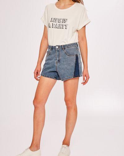 Джинсовые шорты с завышенной талией с карманами Noisy May