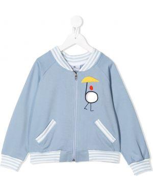 С рукавами синяя куртка свободного кроя на молнии Raspberry Plum