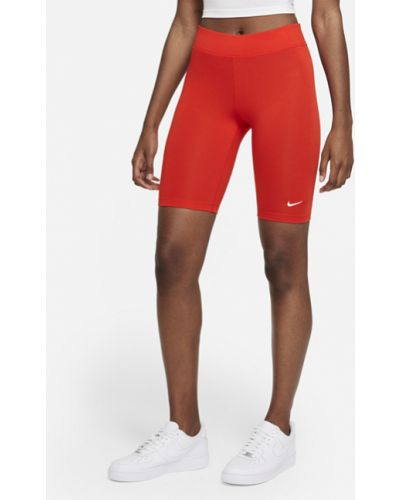 Красные повседневные велосипедки с вышивкой Nike