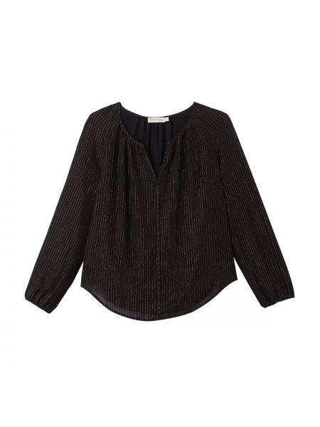 Черная блузка с длинным рукавом с декольте с длинными рукавами с подкладкой See U Soon