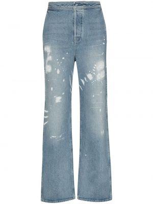Niebieskie jeansy bawełniane rozkloszowane Rta