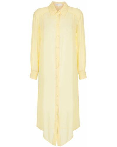 Koszula nocna z długimi rękawami - żółta Nk