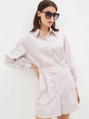 Розовое платье рубашка Trendyangel