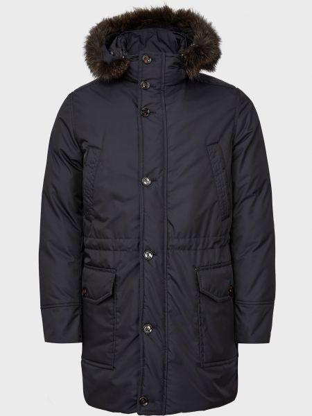 Куртка с мехом - синяя Moorer