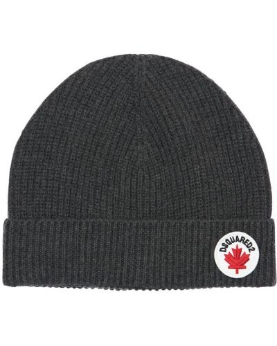 Bawełna wełniany kapelusz z łatami Dsquared2