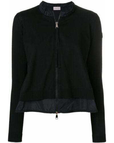 Длинная куртка приталенная из полиэстера на молнии Moncler