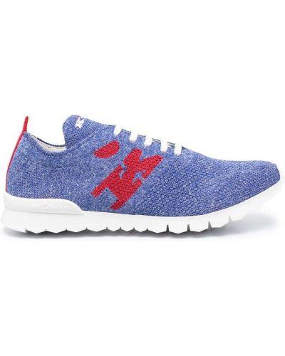 Кроссовки на шнуровке - синие Kiton