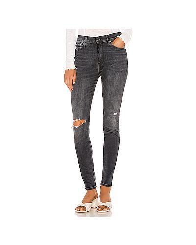 Джинсы-скинни mom рваные Hudson Jeans