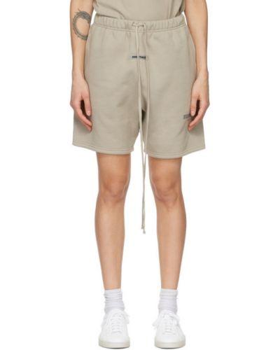 Хлопковые бежевые шорты с карманами Essentials