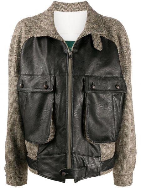 Прямая черная куртка на пуговицах с воротником Jejia