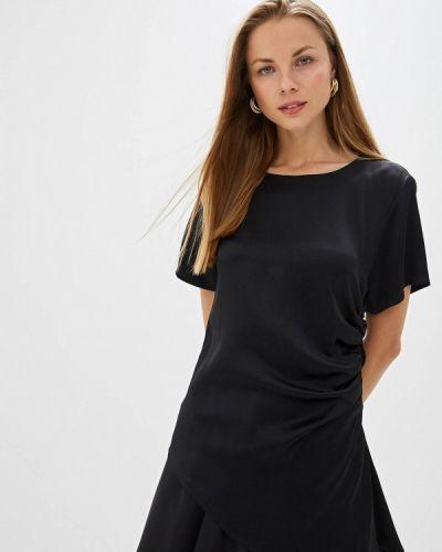 Блузка с коротким рукавом итальянский черная Mm6 Maison Margiela