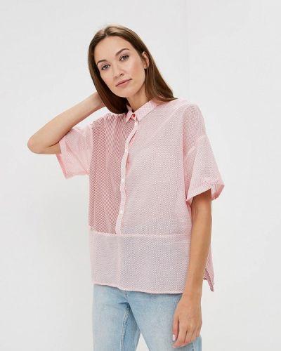 Розовая блузка с коротким рукавом Emi