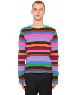 Sweter wełniany w paski Comme Des Garcons Shirt