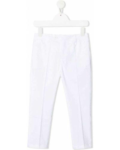 Прямые белые брюки с карманами Dondup Kids