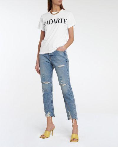 Biały t-shirt bawełniany Rodarte