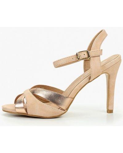 Босоножки на каблуке кожаные Coco Perla