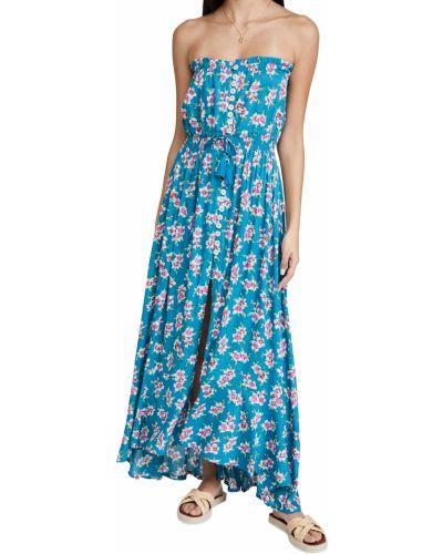 Облегающее платье макси с декольте стрейч Tiare Hawaii