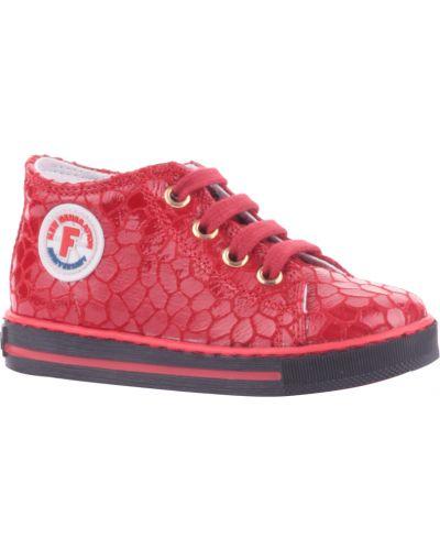 Кеды красные кожаный Falcotto