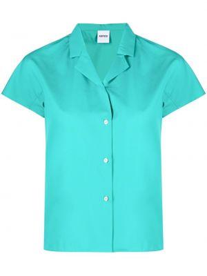 Zielona koszula krótki rękaw bawełniana Aspesi