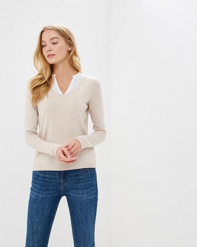 Бежевый пуловер Naf Naf