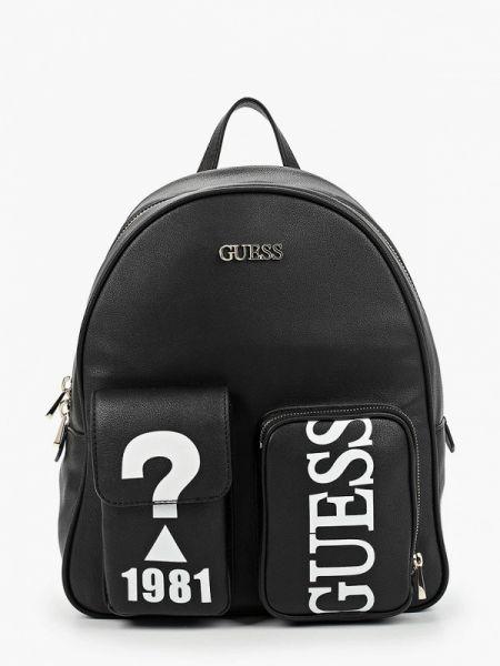 Городской черный рюкзак из искусственной кожи Guess