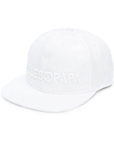 Белая хлопковая кепка с логотипом Filles A Papa
