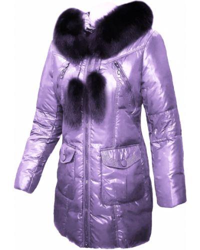 Пуховик с капюшоном - фиолетовый Mirage