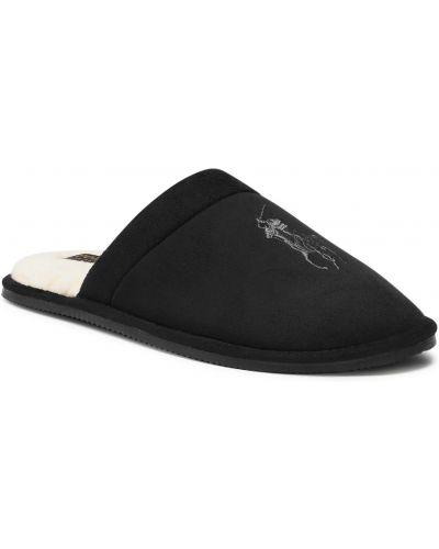 Kapcie - czarne Polo Ralph Lauren