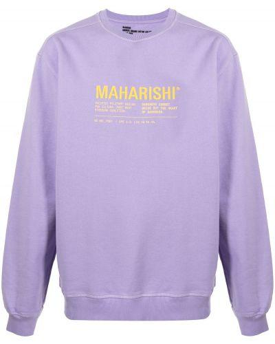 Фиолетовая кофта с вырезом Maharishi