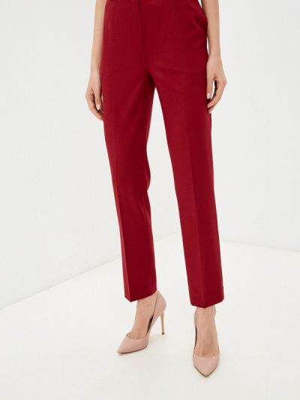 Зауженные бордовые брюки La Biali