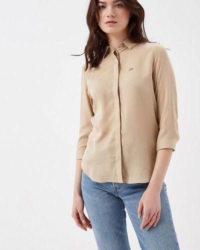 Бежевая рубашка Lacoste