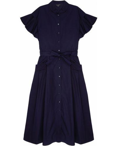 Платье миди рубашка на пуговицах с поясом Tara Jarmon