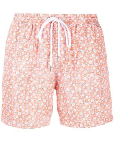 Оранжевые пляжные плавки-боксеры с карманами Barba