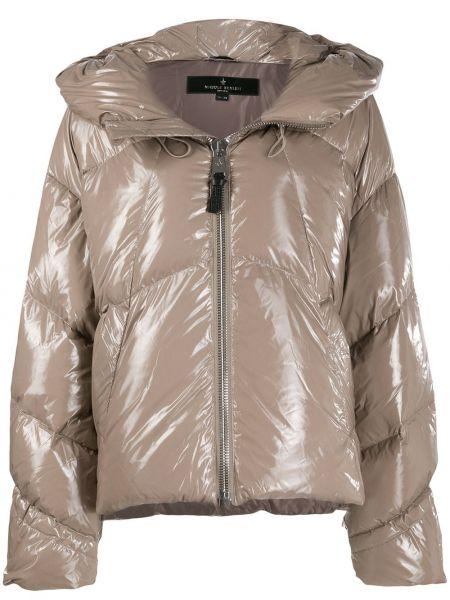 Куртка с капюшоном длинная стеганая Nicole Benisti