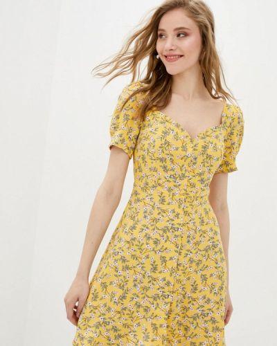 Прямое желтое платье А-силуэта 7arrows